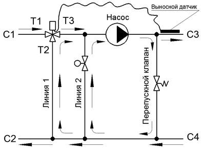 Схема подключения трехходового смесительного клапана теплого пола фото 670