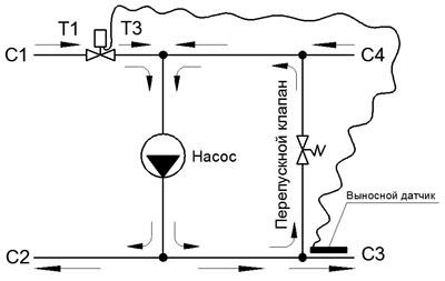 Схема трехходовым смесительным клапаном фото 139